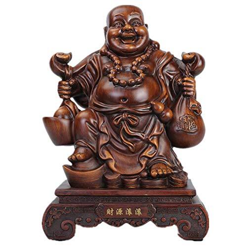 N&O Renovierungshaus Feng Shui Buddha Brunnen Statue Figur Lachender Buddha Statue Für Glück Reichtum Und Glück Skulpturen Wohnkultur