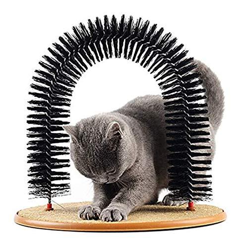 Peluquero para Gatos Gato Grooming, Scrapidor De Gato Multiuso, 3 En 1 Arco De Gato Funcional ⭐