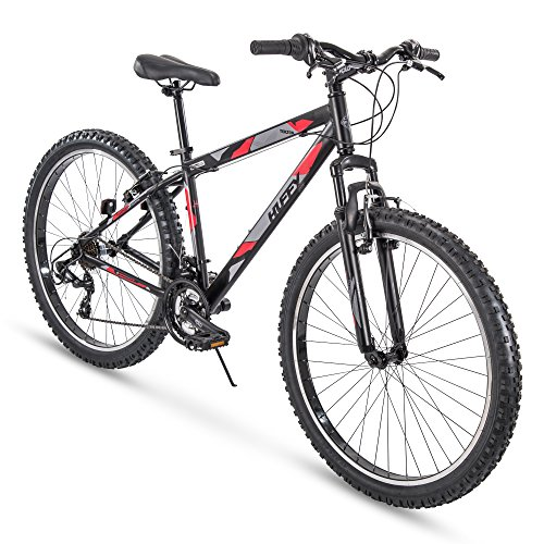 Huffy Hardtail Mountain Trail Bike 24 inch, 26 inch, 27.5 inch, 27.5 Inch Wheels/17.5 Inch Frame, Matte Black