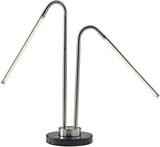Adesso 3048-22 Hydra LED Desk Lamp, Brushed Steel