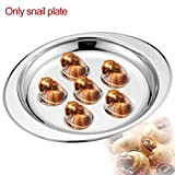 PiniceCore Home Server Heat Resistant Tableware Snail Plate Escargots Restaurant Kitchen Dish Hotel Stainless Steel Lightweight Easy Clean