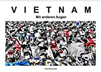 Vietnam - Mit anderen Augen (Wandkalender 2022 DIN A2 quer): Vietnam - Mit anderen Augen. Schwarzweiss mit Farbe (Monatskalender, 14 Seiten )