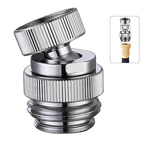 Sink Faucet Adapter Kit Swivel Aerator Adapter to Connect Garden Hose - Multi-Thread Garden Hose Adapter for Male to Male and Female to Male, Polished Chrome