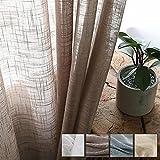 Dido´s Cortinas habitacion. Cortinas translucidas de algodón y Lino, Visillos...