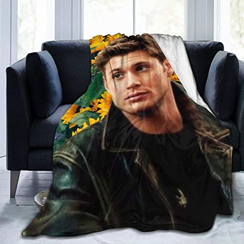 """Supernatural Dean Win-Chester Fleece Blanket Soft Warm Fuzzy Lightweight Plush Luxury Bed Blankets Cozy Couch Sofa Flannel Throw Blanket Winter Novelty Quilt Blanket for Adult Kids (80""""x60"""", Style 2)"""