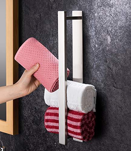 YIGII Handtuchhalter Bad Ohne Bohren Gästehandtuchhalter 40cm Handtuchstange Selbstklebend Edelstahl