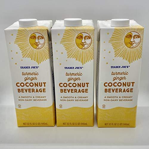 Trader Joe's Golden Milk (Pack of 3) Turmeric Ginger Coconut Beverage...