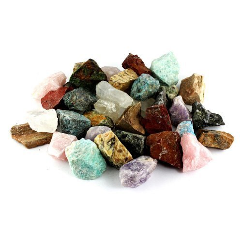 Crystal Allies Materials: 3 Pounds Bulk Rough Madagascar 12-Stone Mix - Large 1""