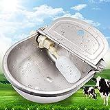 PROBEEALLYU bovini Trogoli d'acqua automatico mangiatoia per pollame con valvola di galleggiamento regolabile e foro di scarico, grande capacità, valvola galleggiante di ricambio inclusa