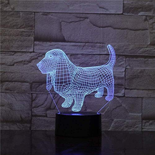 Gift Night Lamp For Kids 3D Light 7 Colors Change With Remote Holiday And Birthday Gifts Ideas For Children-N31