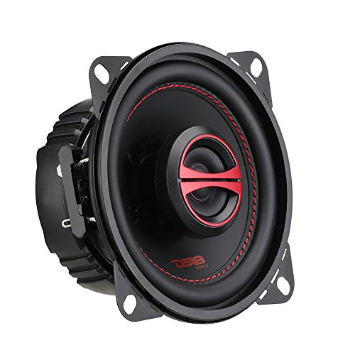 DS18 GEN-X4.6 Coaxial Speaker - 4x6, 2-Way, 135W Max, 45W RMS, Black Paper Cone, Mylar Dome Tweeter, 4 Ohms - Clarity Unparalled by Other Speakers in Their Class (2 Speakers)