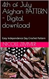 4th of July Afghan PATTERN - Digital download: Easy Independence Day Crochet Pattern