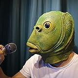 Máscara De Pez Verde, Cabeza De Perro Animal, Millones De Disfraces De Dibujos Animados De Navidad, Risas, Accesorios De Espectáculo Máscara de Pescado [Gafas de Sol]