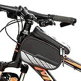 Bolsa de Manillar de Bicicleta, Bolsa de Viga Delantera para Bicicleta de Montaña, Bolsa de Soporte para Teléfono Móvil Congalla Táctil