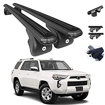 Roof Rack Crossbars Fits Toyota 4Runner 2010-2021 | Luggage Kayak Cargo Hard-Shell Carrier | Aluminum Rooftop of Your Car or SUV | Black 2 Pcs.
