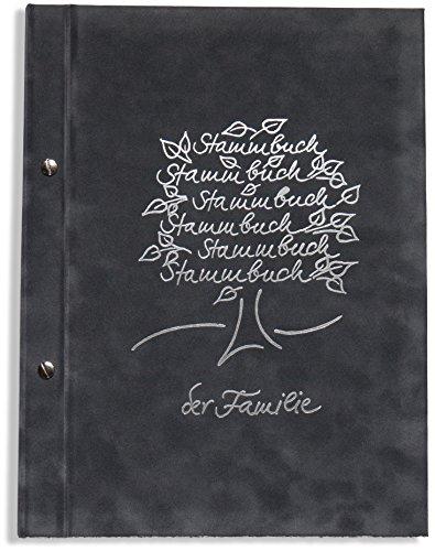 A4 Stammbuch grau Breris Hochzeit Familienstammbuch Stammbuch der Familie incl. 11 Leerhüllen