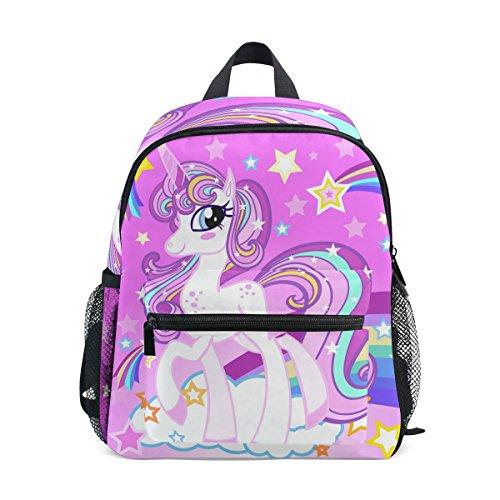 Mochilas Escolares Infantiles, Bolsa Preescolar Ligera Personalizada con Estampado De Unicornio Arcoiris para Niñas Niños