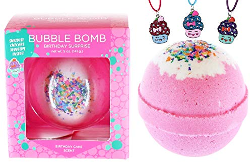 Bubble Bath Bomb for Girls with Surprise Kids Necklace...