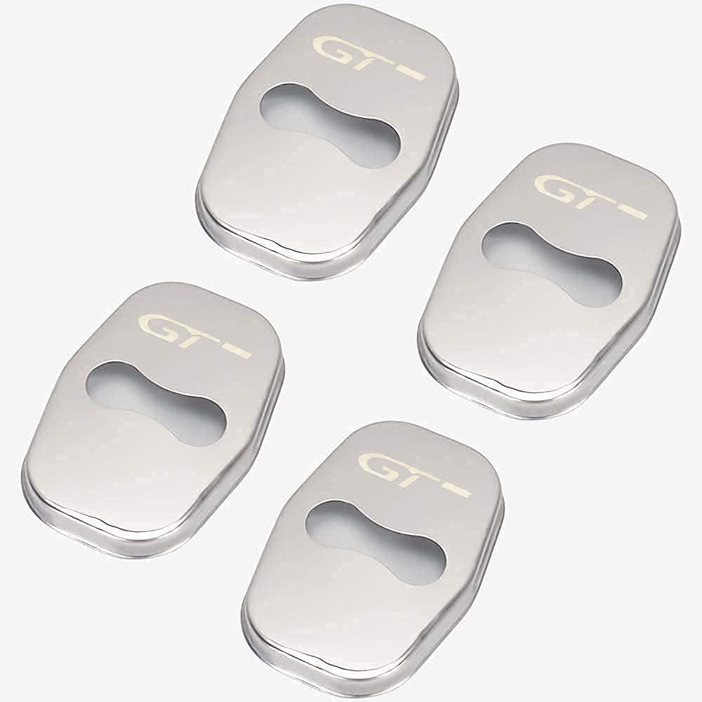 4 Piezas Cubierta Cerradura Puerta Coche Acero Inoxidable para Peugeot 308 5008 3008, Protector De Tapa De La Cerradura Del Coche, AnticorrosióN Protector Coche ProteccióN Interior Styling Accesorios