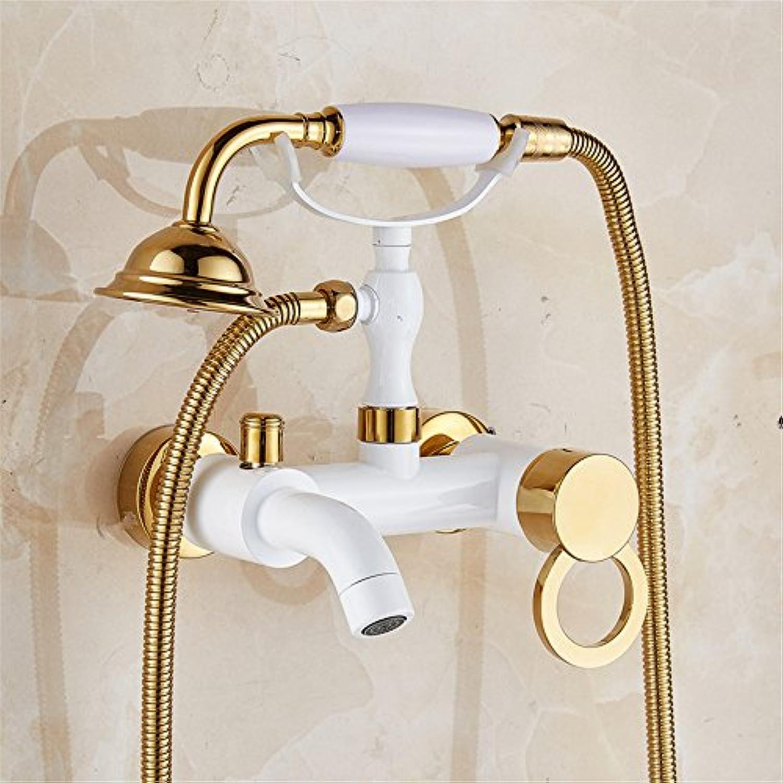 Europische kupfer badewanne wasserhahn dusche hat wall art kalt - und warmwasser dusche badezimmer wasserhahn wasser mischen.,b