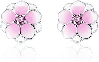 magnolia bloom pale cerise enamel & pink cz