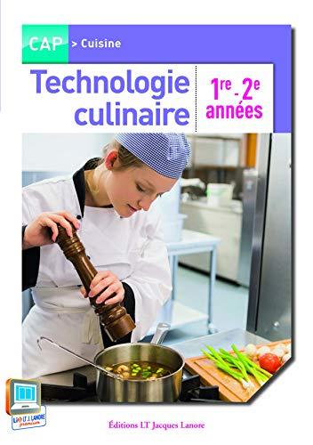 Technologie culinaire CAP 1è 2è années