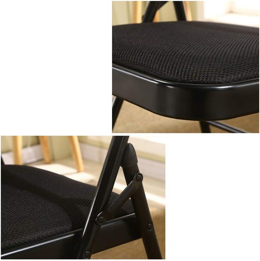 LGQ-LIFE Chaise De Bureau Se Pliante De Grille, Chaise Pliable De Chaise De Bureau De Coussin De Bureau Rembourrée Facile À Stocker, 46 X 44 X 76cm (Color : Green) Orange