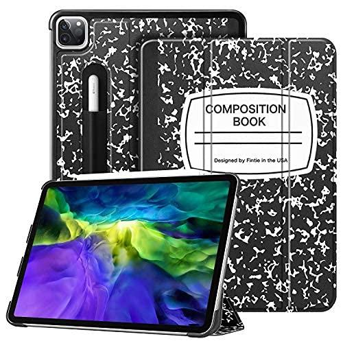 Fintie Schutzhülle für iPad Pro 27,9 cm (11 Zoll) 2020 und 2018 mit Stifthalterung [unterstützt 2. Generation] – SlimShell Stehende harte Rückseite Cover, Auto Wake/Sleep, Kompositionsbuch schwarz
