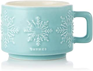 Thymes Hot Cocoa Collection Small Poured Candle, Peppermint Mug