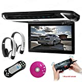 XTRONS 10' HD Digital TFT Monitor Car Roof Flip Down Overhead DVD Player Touch Panel Game Disc HDMI...