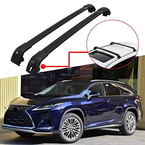 Titopena Roof Rack Cross Bars fit for Lexus RX 2016-2021 Aluminum Cross Bar Replacement for Rooftop Cargo Carrier Bag Luggage Kayak Canoe Bike Snowboard Skiboard (Black) -  TitopenaAUTO, BH700000SH0HHG00QY