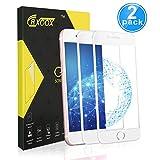 2-Unidades Protector de Cristal Templado para iPhone 7/iPhone 8/ iPhone SE 2020,Protector de Pantalla de Vidrio Templado,9H Dureza,Resistente a Golpes,Arañazos,Alta Definición,Tacto Sensible y Suave