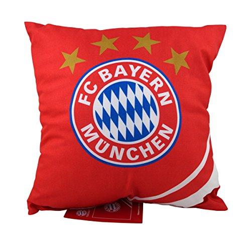 FC Bayern München Wende-Kissen Rekord-Meister 40 x 40 cm Fußball Mia san Mia FCB Champions League Bundesliga Allianz Arena Fankissen Kuschelkissen Dekokissen Kopfkissen Polster pass. zur Bettwäsche