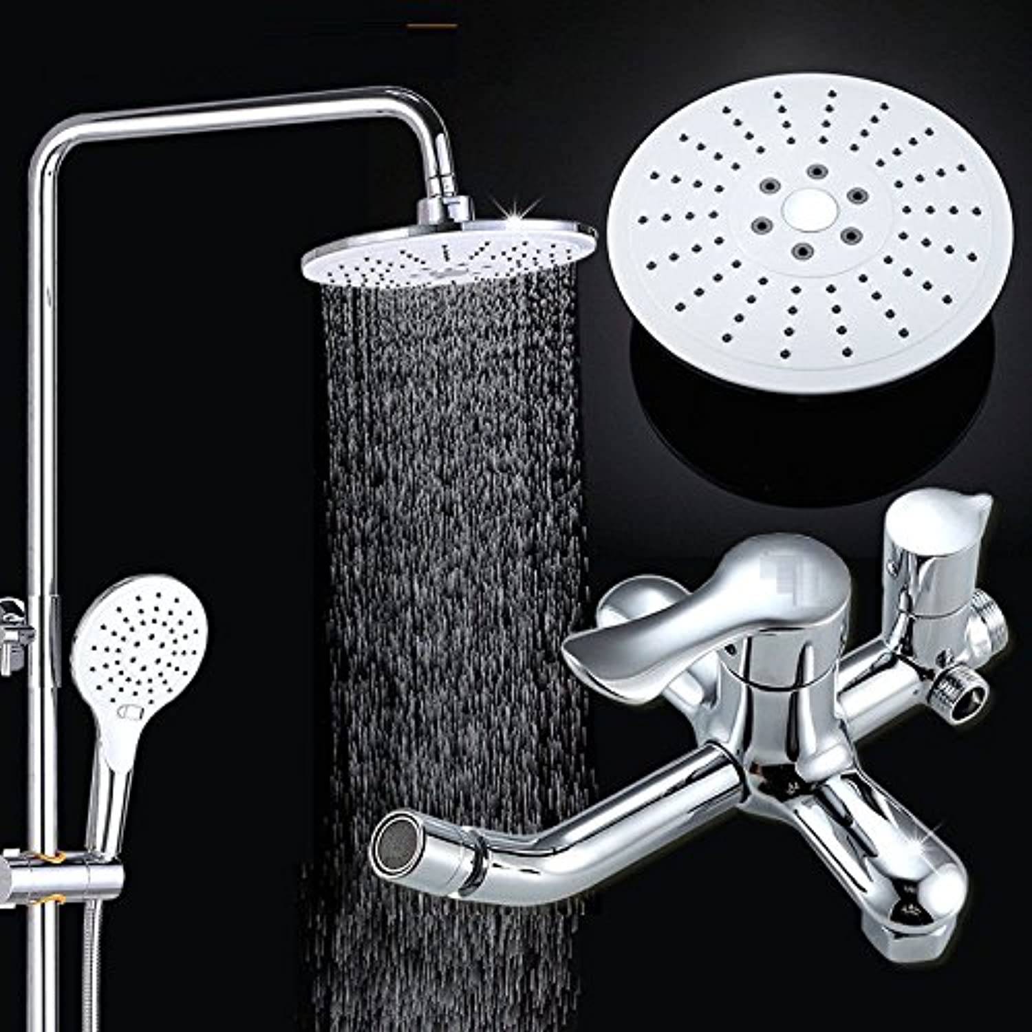 Lalaky Taps Faucet Kitchen Mixer Sink Waterfall Bathroom Mixer Basin Mixer Tap for Kitchen Bathroom and Washroom Adjustable Lifting Rod Large Copper Can Be Adjusted