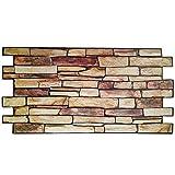 Revestimiento de pared de PVC imitación piedra 3D - Modelo piedra de persia (50)