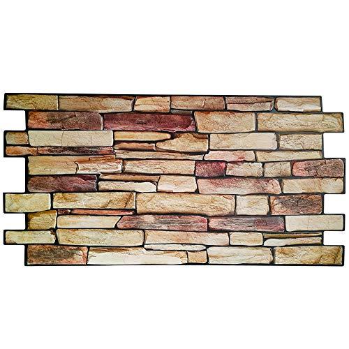 Revestimiento de pared de PVC imitación piedra 3D - Modelo piedra de persia (10)