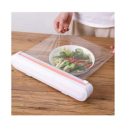 Dispensador de cortador de película adhesiva, Dispensador de envoltura de plástico con cortador de diapositivas, Cortador de envoltura de alimentos reutilizable
