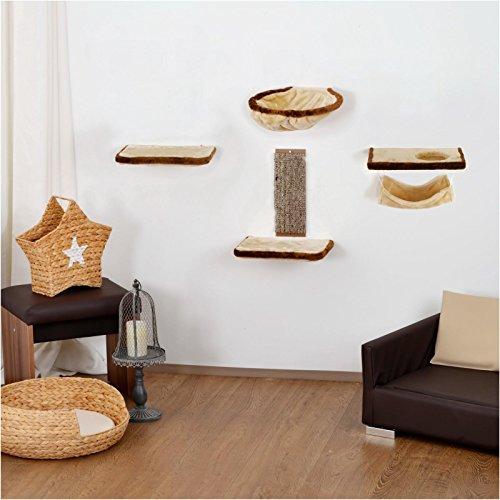 Silvio Design 22052.000 Katzen-Kletterwand 6-teilig beige-braun, 4700 g