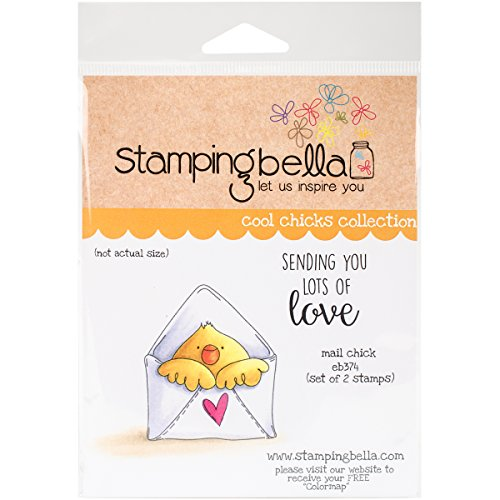 Stamping Bella Mail Chick Cling Stamp, 6.5' x 4.5'