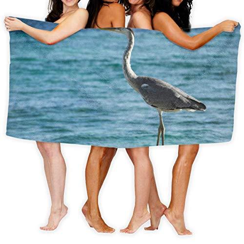 Fun Life Art Toalla de baño Big Hungry Crane Bird para deporte, toalla de playa, 51 x 80 cm