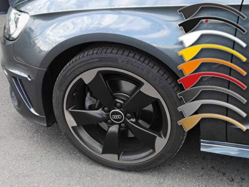 7,5-8x18 Zoll Felgen-Aufkleber für A1 A3 A4 Audi 5-Arm Rotor Felgen Rim Decal (Silber metallic)