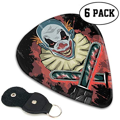 Evil Scary Clown Monster Púas de guitarra para mujeres Hombres Guitar Pick...