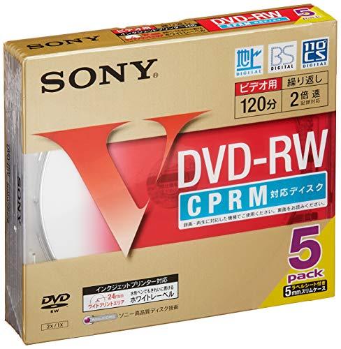 ソニー ビデオ用DVD-RW 120分 1-2倍速 5mmケース 5枚パック 5DMW12HPS
