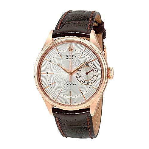 Rolex Cellini Silver Dial 18K Everose Gold Mens Watch 50515SSBRL