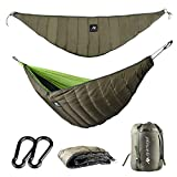 ayamaya Hammock Camping Underquilt Under Quilt UQ Full Length Winter 4 Season Double Person Cold Weather Waterproof Warm Ultralight Blanket Sleeping Bag Bottom Insulation Backpacking Hiking Men Women
