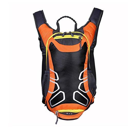 Mountaintop 15.7LSac à dos de randonnée Travel Daypack Sac à vélo avec sac de basket-ball (orange)