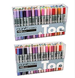 Copic Premium Artist Markers - 72 Color Set A - Intermediate Level (72 Color A&B)