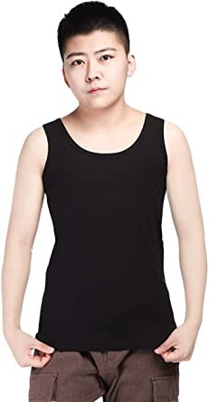 BaronHong Chest Binder Cotton Vest Tank Top for Tomboy Trans Lesbian (Can be Worn Alone)