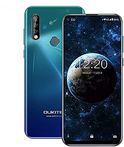 OUKITEL C17pro,Android Unlocked Phone Triple Camera Octa-Core 64GB ROM+4GB RAM 3900 mAh Unlocked Cell Phone 6.35 inch HD+ Full Display Android 9.0 Pie Global 4G Mobile Phone(Classic Black)