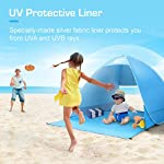 Active Era® Pop Up Beach Tent - Rated UPF 50+ for UV Sun Protection - Includes Carry Travel Bag & Tent Pegs
